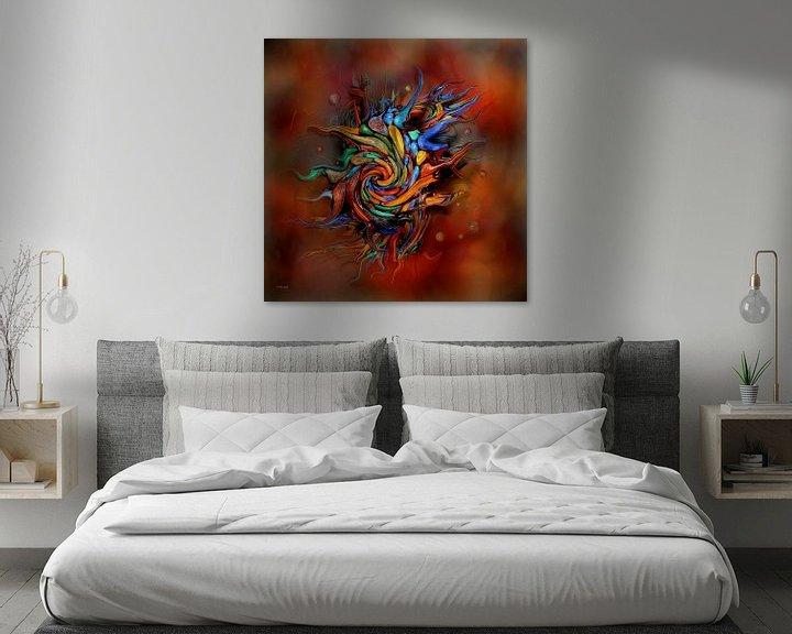 Impression: Art abstrait coloré sur Stefan teddynash
