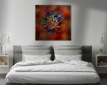 Abstracte kleurrijke kunst van Stefan teddynash