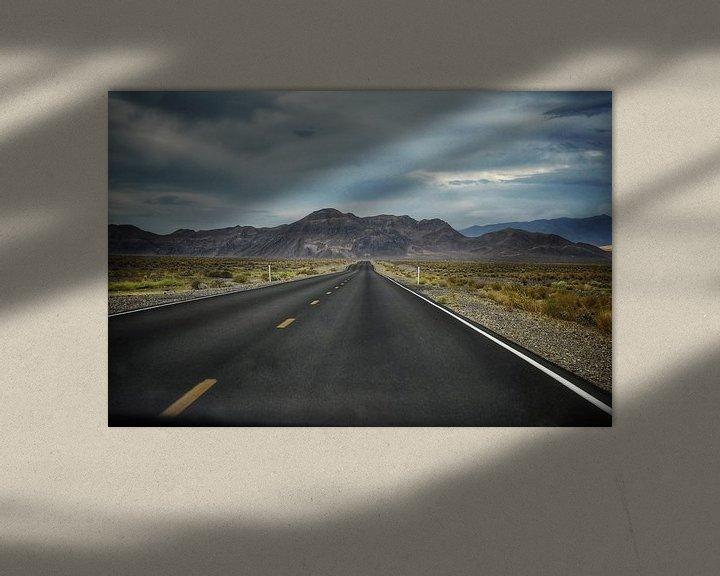 Beispiel: Verlassener Highway in den Vereinigten Staaten ( Roadtrip Highway Route 66) von Bart Schmitz