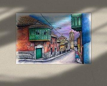 Städte-Serie 11 - Potosi von Yeon Yellow-Duck Choi