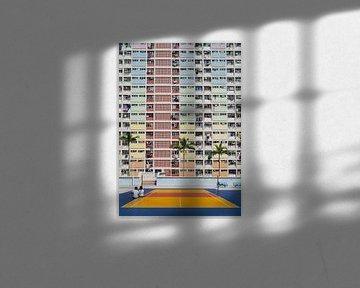 Buntes Gebäude in Hongkong von Teun Janssen