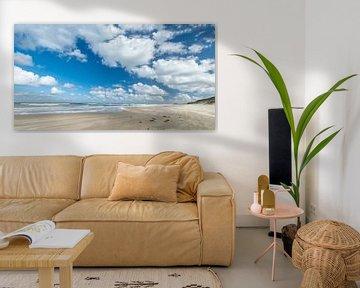 Blue skies and white clouds over the isle of Borkum van Margreet Piek
