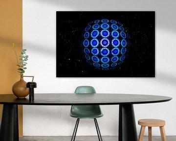 Blauwe cirkels in een caleidoscoop van Antwan Janssen