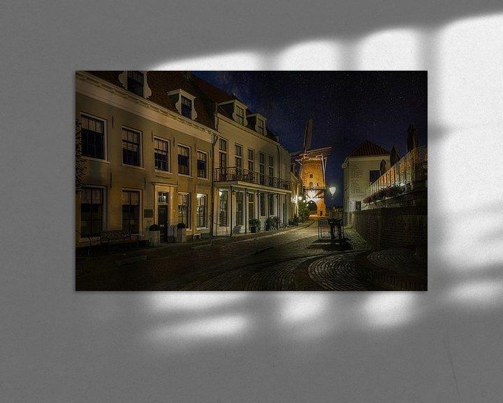 Sfeerimpressie: Oud Wijk Bij Duurstede - Dorestad bij Nacht van Mart Houtman