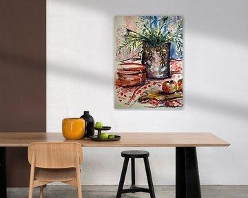 Stillleben auf dem Küchentisch. von Ineke de Rijk