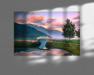 Sonnenaufgang in Loen, Norwegen