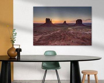 Monument Valley, Colorado, United States van Afke van den Hazel