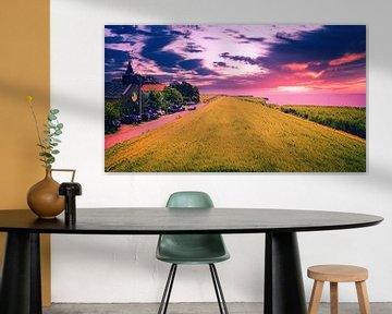 IJsselmeerdijk Friese zijde van Digital Art Nederland