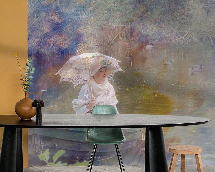 Sfeerimpressie behang: genietend van Yvette Bauwens
