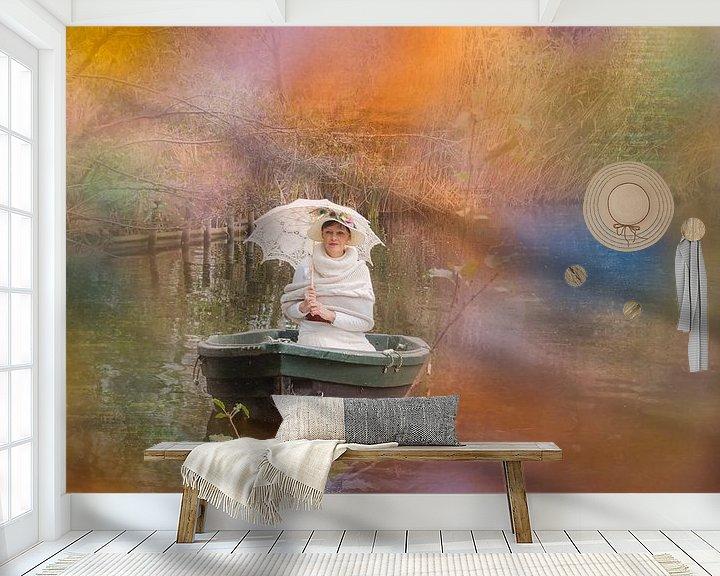 Sfeerimpressie behang: genietend van het zonnetje van Yvette Bauwens