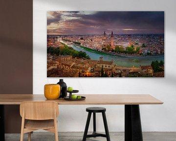 Blick über Verona von Dennis Donders