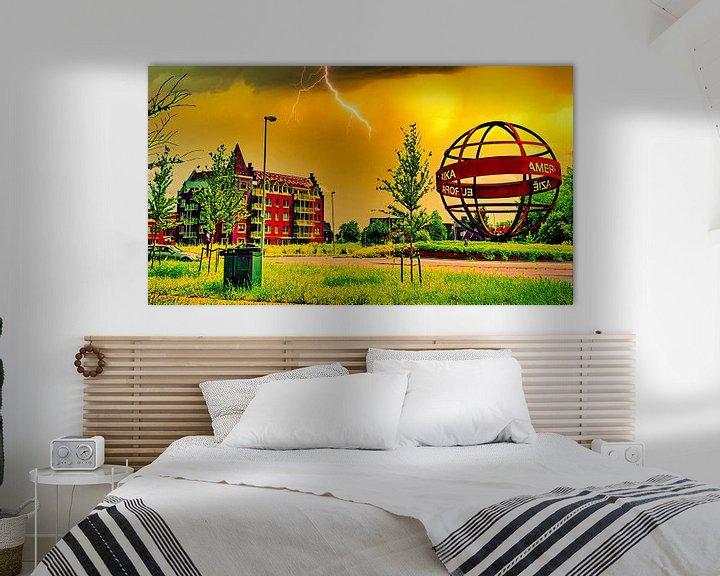 Beispiel: Die Welt in Flammen von Digital Art Nederland