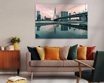 Erasmusbrücke & die Reflexion von Inge van der Hart Fotografie