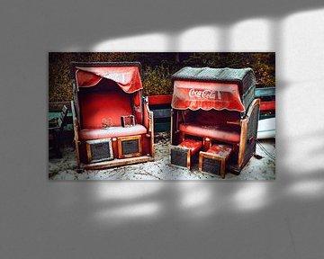 Strandstoelen op Sylt van Heiko Westphalen
