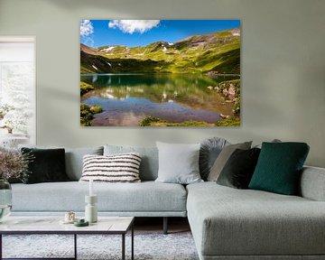Reflectie in bergmeer van Steven Van Aerschot