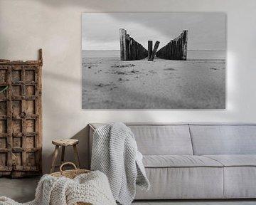 Golfbrekers aan de Zeeuwse kust van Gelein Jansen