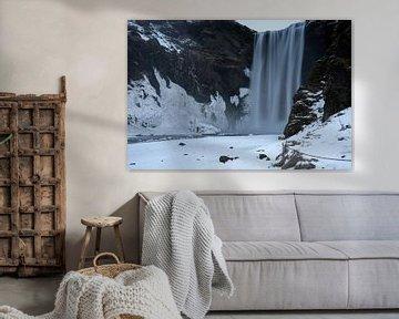 Skogafoss Wasserfall, Island, Europa von Alexander Ludwig