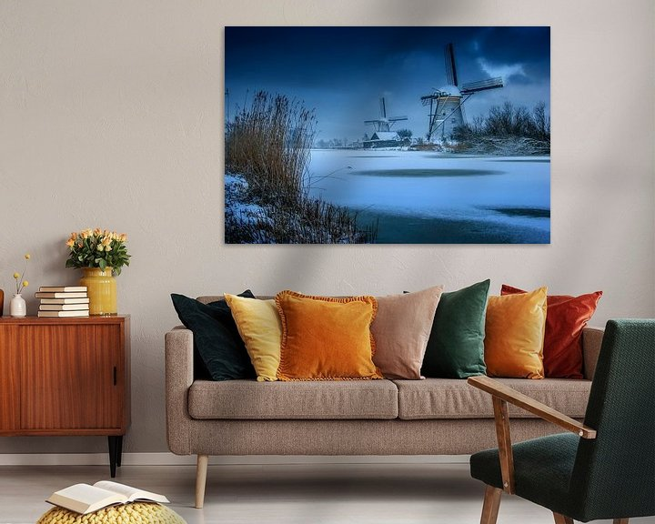 Sfeerimpressie: Winter windmolens van Ruud Peters