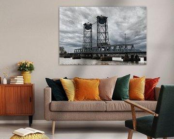 de oude Botlekbrug. van Tilly Meijer
