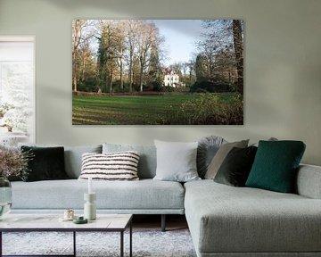 Een landschap met een villa van Gerard de Zwaan