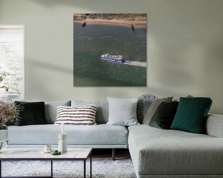 Beispiel: Triptychon 2/3 - Ankunft Fähre Vlieland von Roel Ovinge