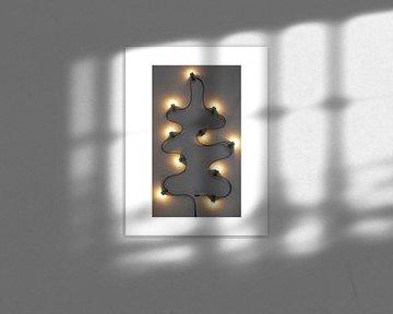 Kerstboom lichtjes industrieel van Stephanie Franken