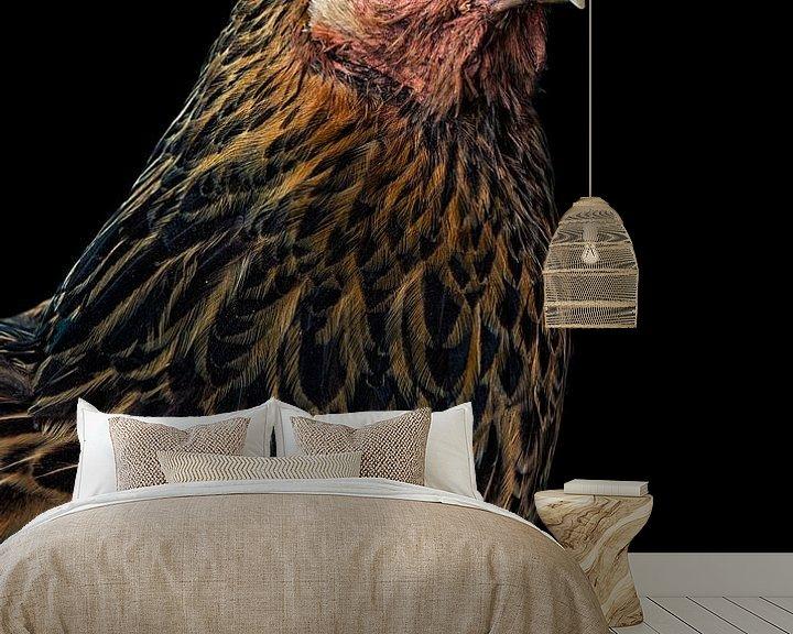 Sfeerimpressie behang: Kip van Marielle Leenders