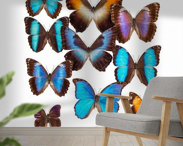 Sfeerimpressie behang: Collectie Vlinders van Marielle Leenders