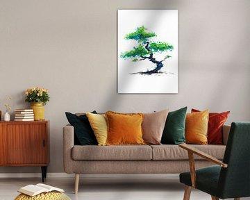 Blauer Bonsai von ZeichenbloQ
