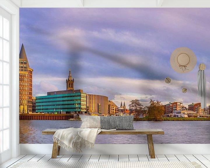 Beispiel fototapete: Skyline Roermond in der Nachmittagssonne II von Teun Ruijters