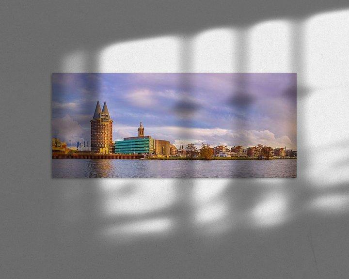 Beispiel: Skyline Roermond in der Nachmittagssonne II von Teun Ruijters