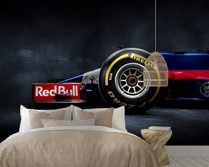 Sfeerimpressie behang: F1 Formule 1 Toro Rosso STR12 2017 Carlos Sainz jr. van Thomas Boudewijn