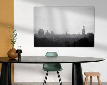 Skyline van Utrecht in de regen. sur Ramon Mosterd