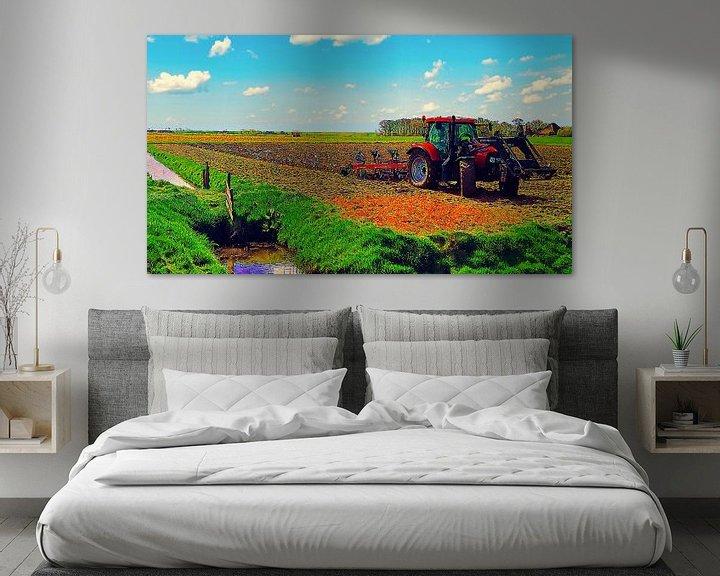 Beispiel: Traktor auf dem Land von Digital Art Nederland