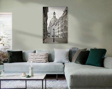 Altstadt von Dresden mit Frauenkirche von Heiko Kueverling
