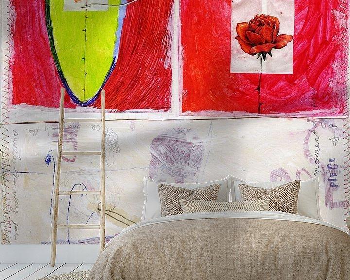 Sfeerimpressie behang: Diary art 2 van keanne van de Kreeke