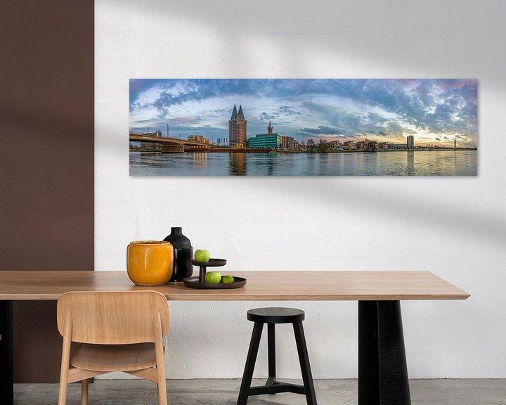 Sfeerimpressie: Skyline Roermond in de namiddag II van Teun Ruijters