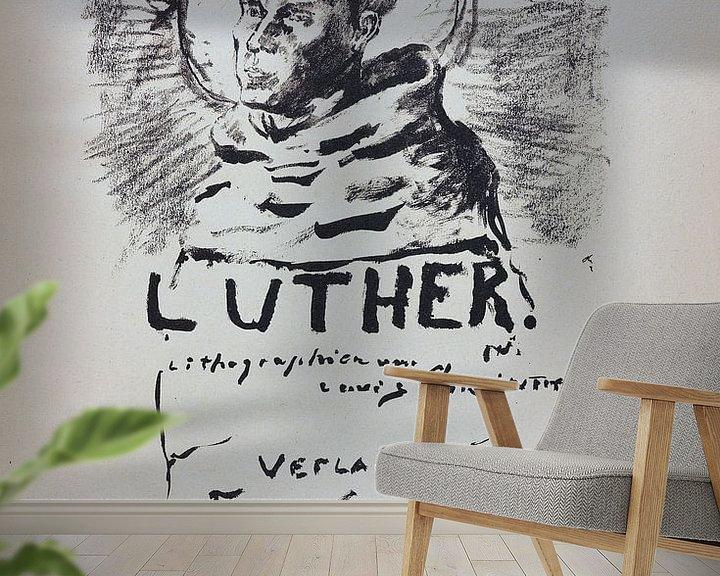 Sfeerimpressie behang: Martin Luther. LOVIS CORINTH, 1920-21 van Atelier Liesjes