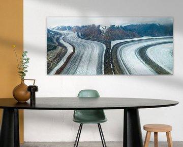 Luftbild des Kaskawulsh-Gletschers von Denis Feiner