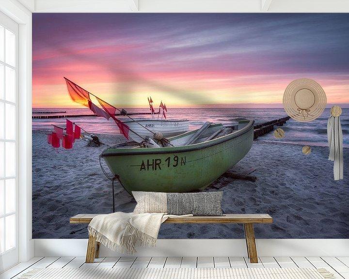 Beispiel fototapete: Zwischen Wind und Welle (Ahrenshoop) von Dirk Wiemer