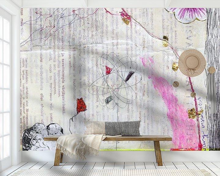 Sfeerimpressie behang: Diaryfragment 2 van keanne van de Kreeke