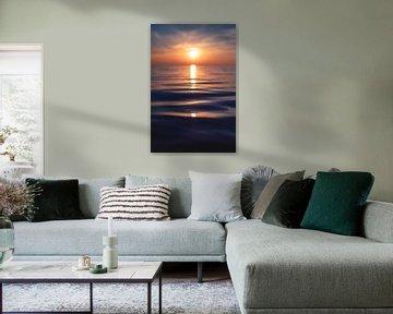 Zachte golven voor de zonsondergang van Florian Kunde