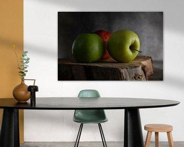 stilleven van drie appels