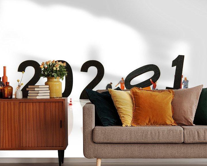 Sfeerimpressie behang: bijna gereed voor 2021 van Compuinfoto .