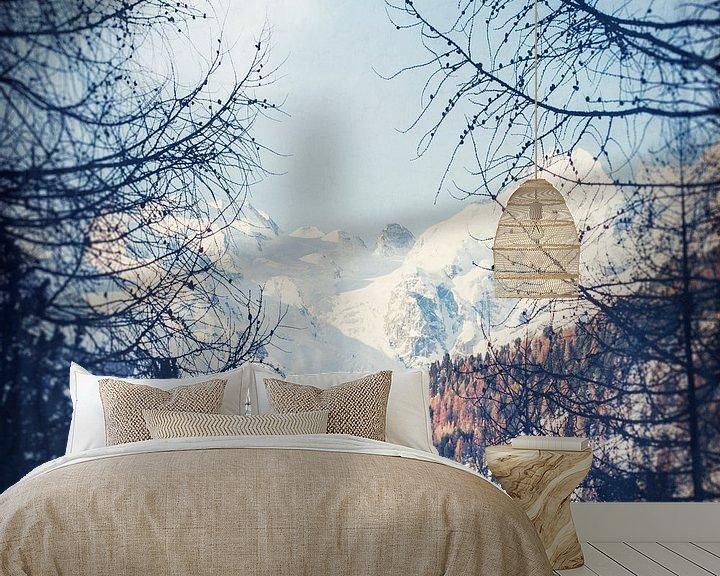 Sfeerimpressie behang: Alpenpieken in de winter van Dirk Wüstenhagen
