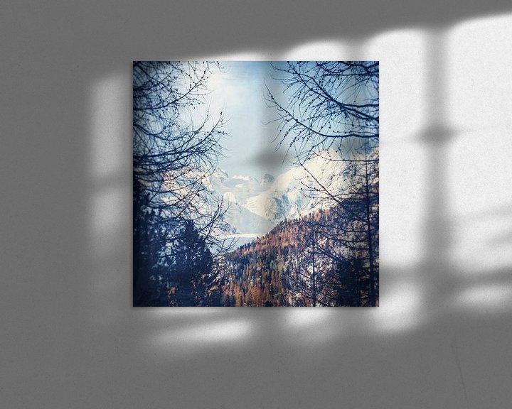 Sfeerimpressie: Alpenpieken in de winter van Dirk Wüstenhagen