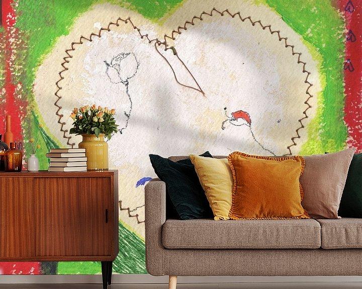 Sfeerimpressie behang: A heart for everyone van keanne van de Kreeke
