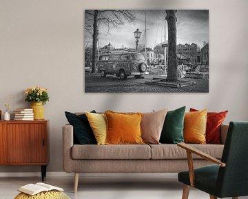 Historisch Dordrecht aan de Wijnhaven in Dordrecht van Rick Van der Poorten