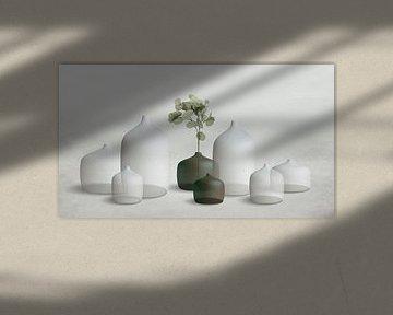 Keramische Vasen weiß/grün von Color Square