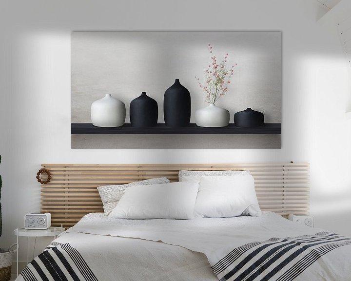 Beispiel: Keramikvasen schwarz/weiß von Color Square